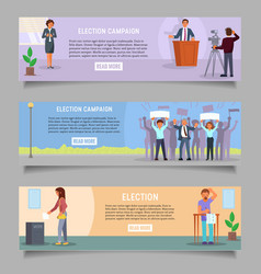 voting web banner template set flat vector image