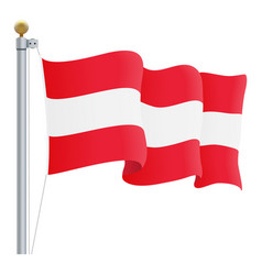 waving austria flag isolated on a white background vector image