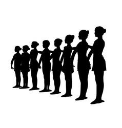 ballet dancers standing in a row vector image