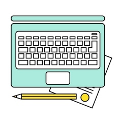 Online education concept e-learning studying vector image