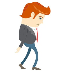 Sad Office man vector image vector image