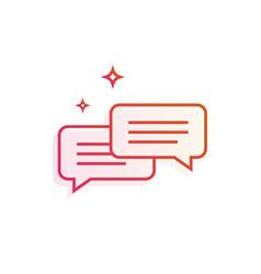 speech bubbles icon gradient line vector image