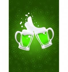 two St Patrick's beer mug vector image vector image