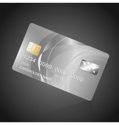 VIP Card silver on black vector image vector image