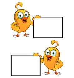 Cartoon Chick Board vector image vector image
