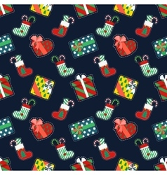 Christmas Seamless Pattern with Gifts vector image vector image