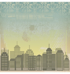 city grunge background vector image vector image