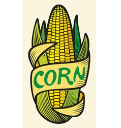 corn label vector image vector image