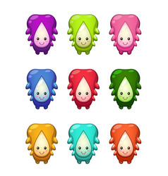 cute cartoon colorful alien characters set vector image vector image