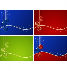 set christmas backgrounds vector image