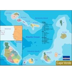 Cape verde map vector