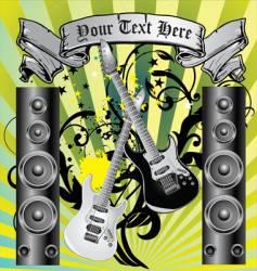 loudspeaker grunge background vector image vector image