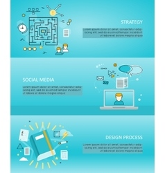 Set of Creative Process and Share Banners vector image vector image