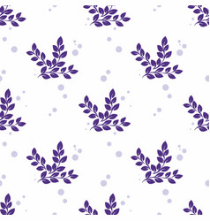 stylized branches on a white background vector image vector image