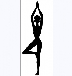 Yoga position vector image vector image