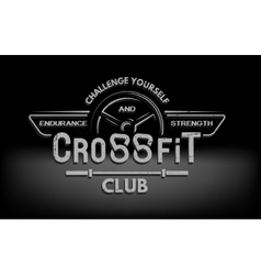 CrossFit The tmblem in vintage style vector image vector image