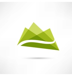 landscape in the mountains icon vector image vector image