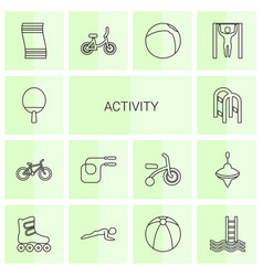 14 activity icons vector
