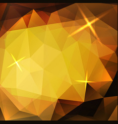 abstract yellow triangles background vector image
