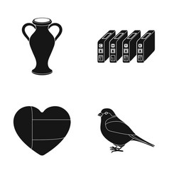 Amphora cartridge and other web icon in black vector