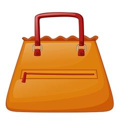 An orange bag vector image