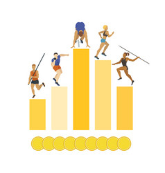 athletics banner poster brochure vector image