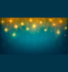 background with shiny stars vector image