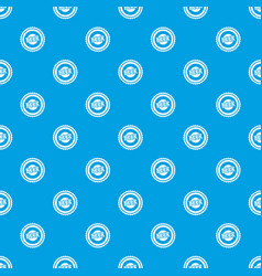 beer bottle cap pattern seamless blue vector image