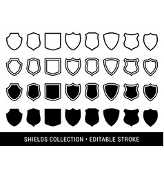 black and white shields vector image