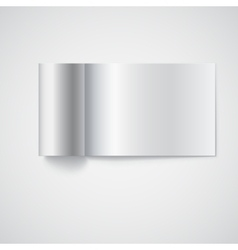 Blank opened magazine template vector image