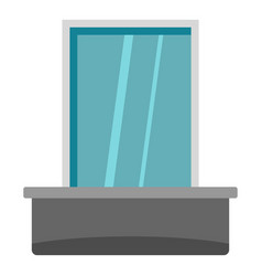 Blind window icon isolated vector