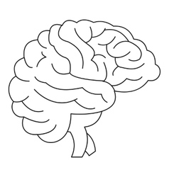 Brain icon outline style vector