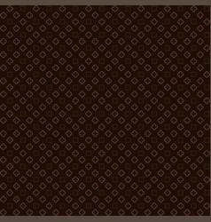 Brown quatrefoil outline pattern vector
