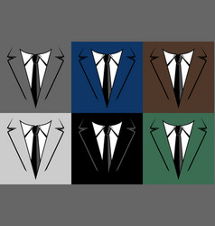 Businessman in suit head icon vector