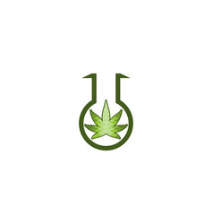 cannabis laboratory logo designs inspiration vector image