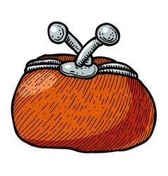 cartoon image of wallet icon wallet symbol vector image