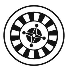 Casino gambling roulette icon simple style vector image