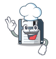 chef floppy disk isolated with a mascot vector image