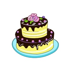Colored doodle pie vector image