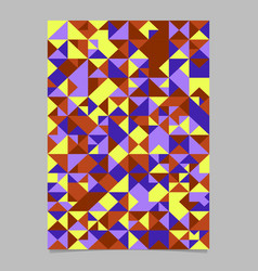 Colorful polygonal abstract triangle mosaic vector