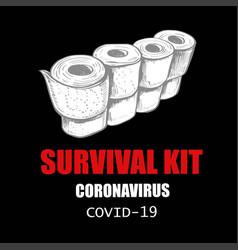 coronavirus concept funny and anti-stress vector image