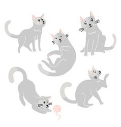 cute funny cats set vector image