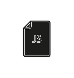 Download js document icon - file format symbol vector