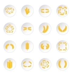 Ear corn icons set vector