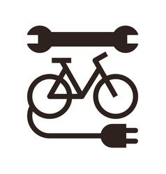 electric bike repair icon vector image
