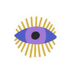 Esoteric evil eye with eyelashes mystical vector