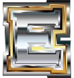 Fancy font Letter E vector