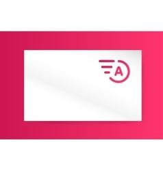 fast line letter a logo monogram business vector image