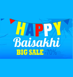 final sale happy baisakhi concept banner cartoon vector image