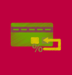 flat shading style icon bank card vector image